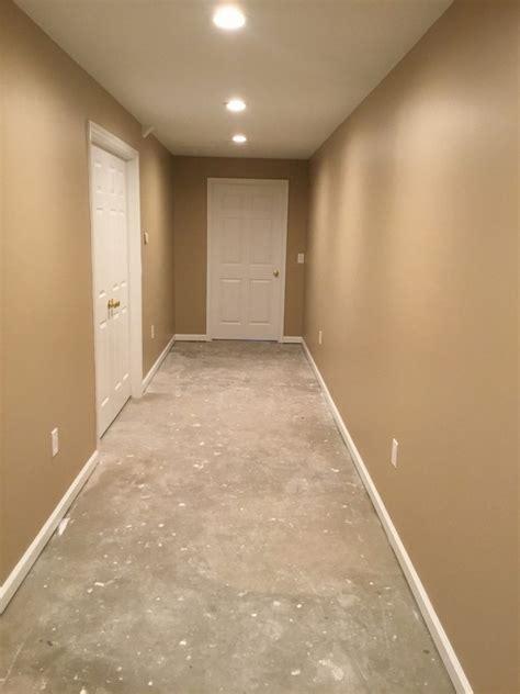 basement hallway finishing  chester nj monks home