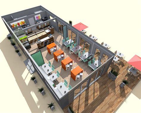 exemple plan de cuisine restaurants de plage démontable construction modulaire modul space