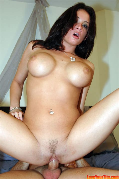 Love Your Tits Big Tit Brunette Fucks Like A Champ At