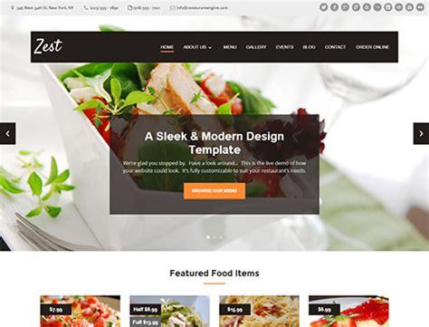 restaurant website templates restaurant website design templates