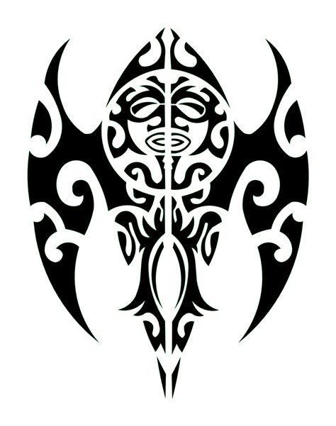 pochoir tatouage temporaire unik tattoo masque maori