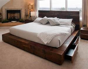 unique platform beds contemporary rustic reclaimed woods With unique furniture and mattress