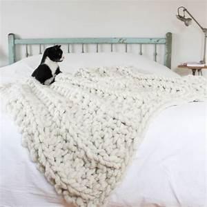 Tricoter Un Plaid En Grosse Laine : tangerinette diy tricoter un plaid xxl tricotin rug yarn plaid et diy ~ Melissatoandfro.com Idées de Décoration