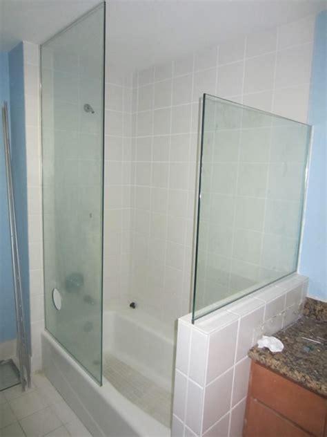 doorless shower doorless enclosure hillcrest patriot glass and mirror san diego ca