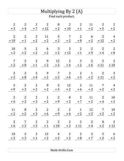 6 Best Images Of Printable Timed Math Drills Multiplication  100 Multiplication Worksheet, Math
