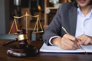 Working Documents Judge Gavel With Justice Lawyers Business Woman In Suit