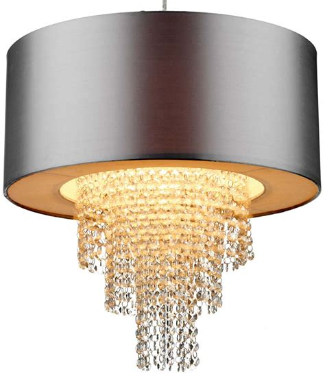 dar silver ceiling pendant l shade with drops lop6532