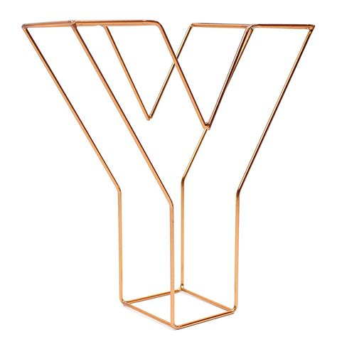 copper wire letter y 15 cm hobbycraft