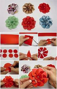 DIY Paper Flower Step by step making tutorials - K4 Craft