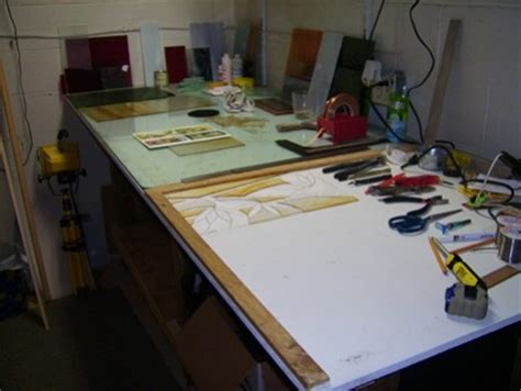 stained glass work bench  work station stained glass