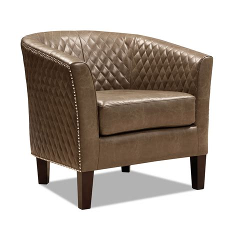 luxor accent chair brown  city furniture