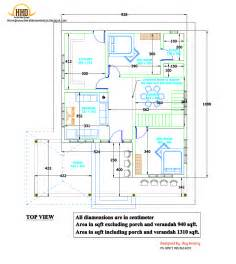 free house plans and designs 2d house plan sloping squared roof kerala home design and floor plans