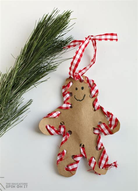 christmas ornament project for pre k how to make a sewn gingerbread ornament with your child