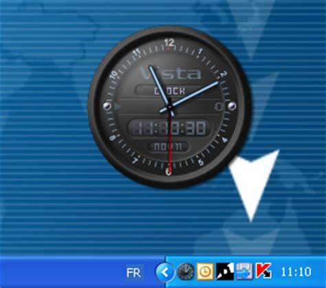 horloge de bureau windows vista clock télécharger