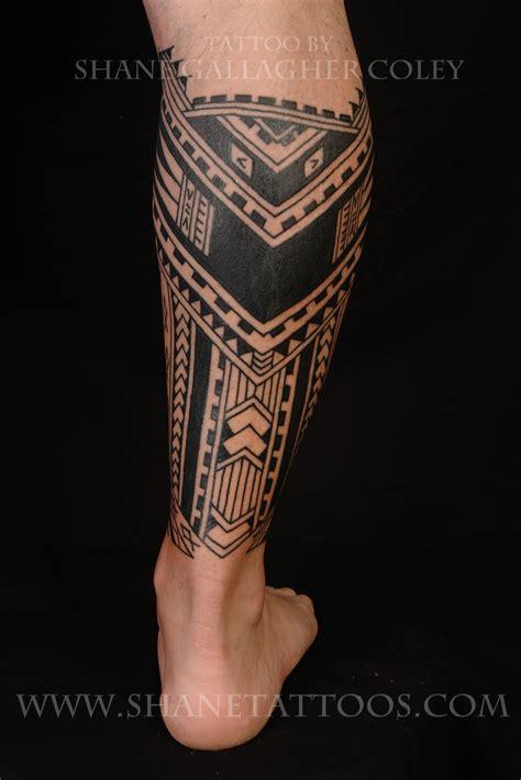 Maori Polynesian Tattoo Polynesiansamoan Calf Tattoo
