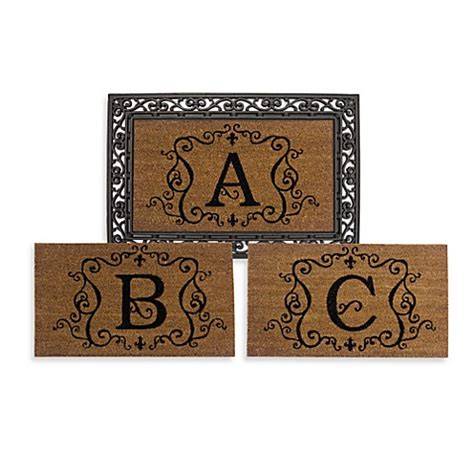 monogrammed door mat rubber door mat frame and monogram inserts bed bath beyond