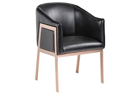 gold accent chair black leather from one