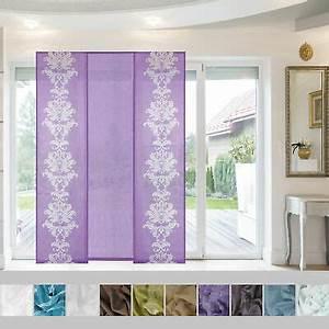 Flächenvorhang 40 Cm Breit : 3 teiliges set gardine vorhang stores f r 2 fl gelige ~ A.2002-acura-tl-radio.info Haus und Dekorationen