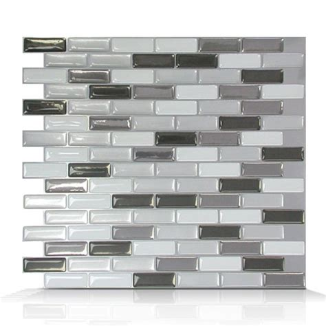smart tiles sm1030 murano metallik self adhesive wall tile