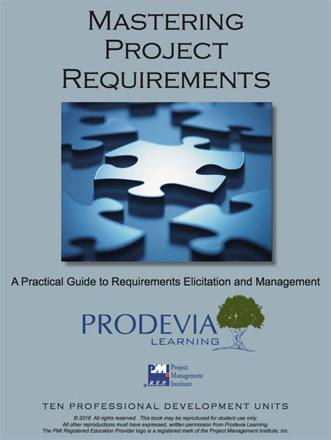 Mastering Project Requirements Prodevia Learning