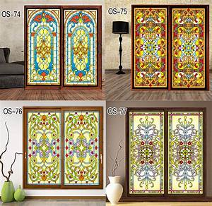 custom vintage church electrostatic film translucent glass With kitchen cabinets lowes with stained glass stickers