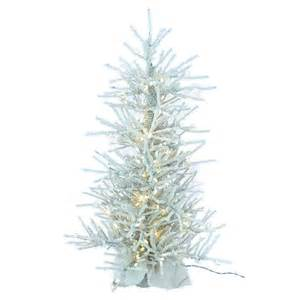 4 ft flocked twig slim pre lit christmas tree at hayneedle