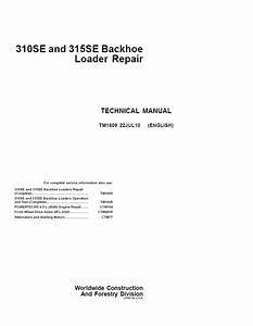 John Deere 310se 315se Backhoe Loader Pdf Manual