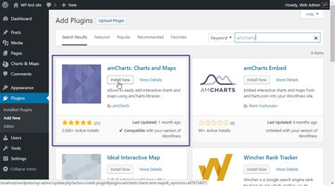 Using Amcharts Plugin