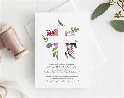 Baptism First Communion Confirmation Invite Bliss