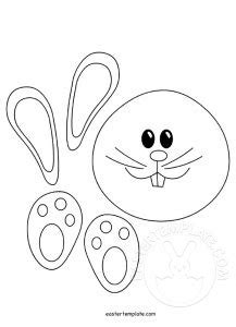 easter bunny cut out template 89047 easter template page 3 of 9 have fun with free