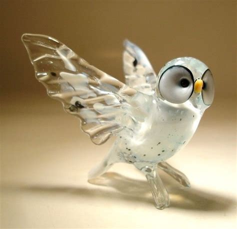blown glass quot murano quot art figurine bird white north polar