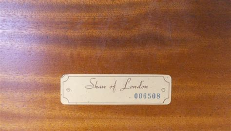 Round Mahogany Revolving Bookcase by Shaw of London   SOLD
