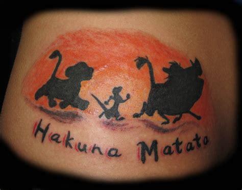 Hakuna Matata Tattoos Designs, Ideas And Meaning Tattoos