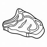 Steak Coloring Raw Rundvleeslapje Rindfleischsteak Beef Ruw Vlees Boek Kleurend Illustrations Rohes Clipart Malbuch Illustrationen sketch template