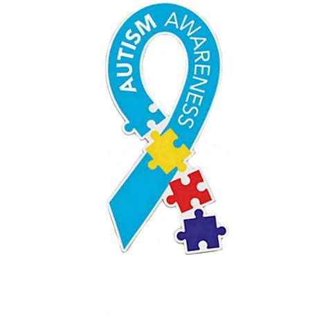 autism colors autism awareness multi color puzzle car magnet