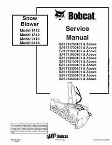Bobcat Snowblower Manual