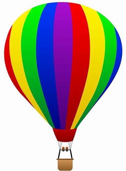 Air Balloon Clip Rainbow Striped Sweetclipart