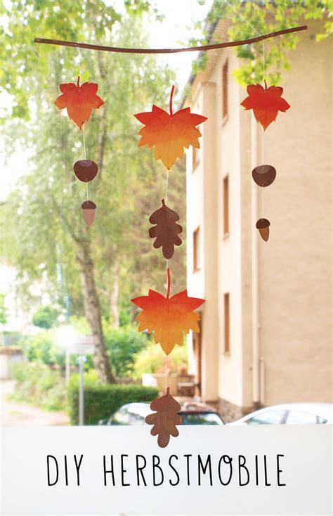 Herbstdeko Fenster Bestellen by Diy Herbstmobile Handmade Kultur