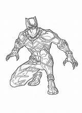 Marvel Pantera Panther Coloring Negra Colorir Ausmalbilder Pintar Desenhos Imprimir Avengers Colorare Superhelden Nera Disegno Zum Ausdrucken Malvorlagen Supereroe Gratuitamente sketch template