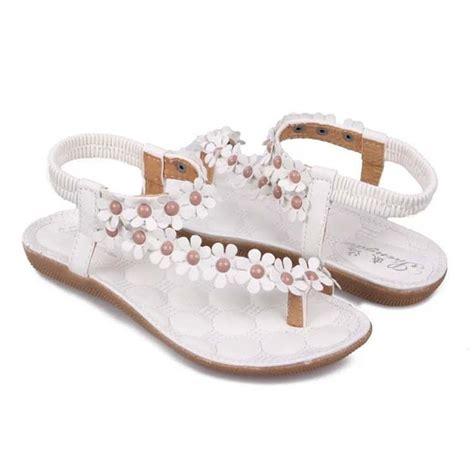 fashion wanita sepatu sandal flat casual t gaya