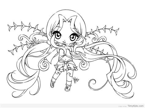 Chibi Fairy Coloring Pages Fairy coloring pages Bear