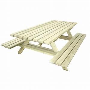 Table Bois Pique Nique : table de pique nique en bois massif table de pique nique pour camping ~ Melissatoandfro.com Idées de Décoration