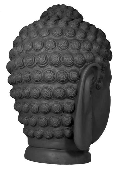 Dekofigur Buddha Statue Buddha Kopf Büste beton Optik Feng