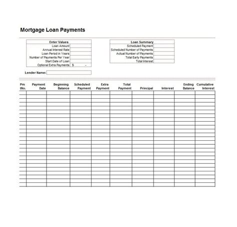 loan amortization spreadsheet template excel loan amortization schedule download free excel
