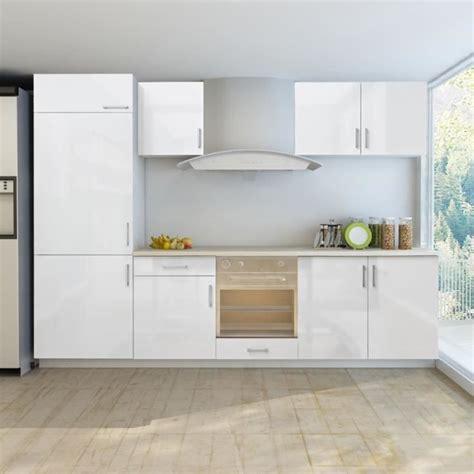 armoire de cuisine blanc brillant 7 pcs pour frigo int 233 gr 233 achat vente cuisine compl 232 te