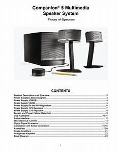 Bose Companion 5 Theory Of Operation  Service Manual