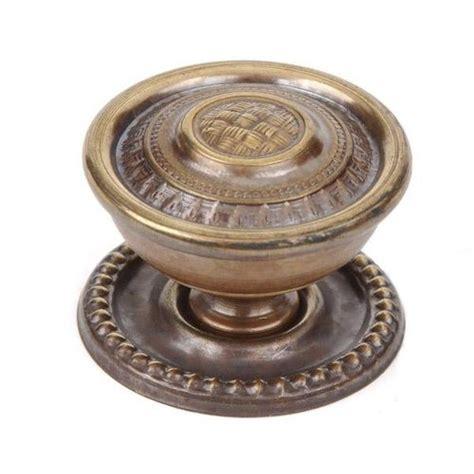 brass cabinet knob backplate armac brass basket weave knob with backplate van s