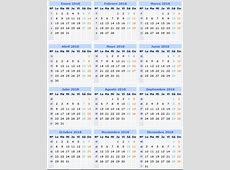 Descargar e imprimir el calendario 2018