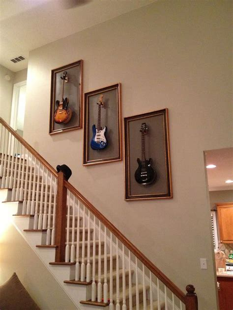 cool ways  display  guitar collections home