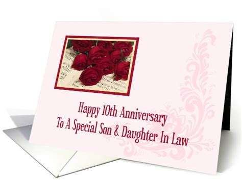 son  daughter  law  anniversary card